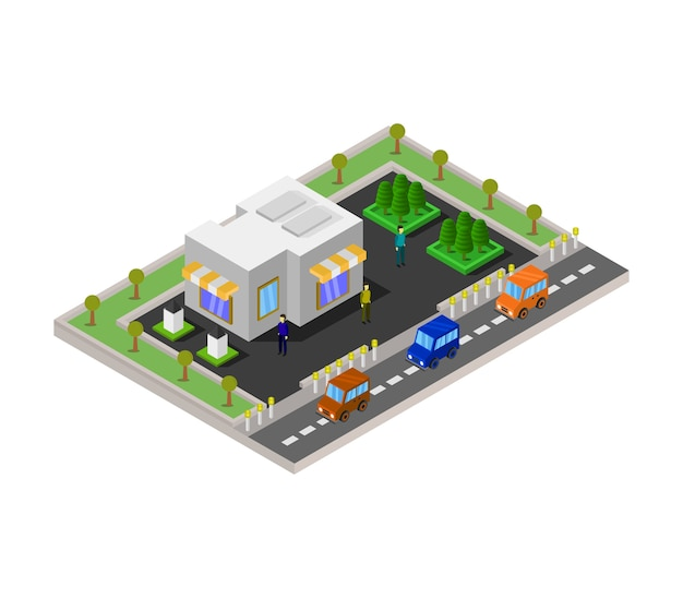 Isometric supermarket
