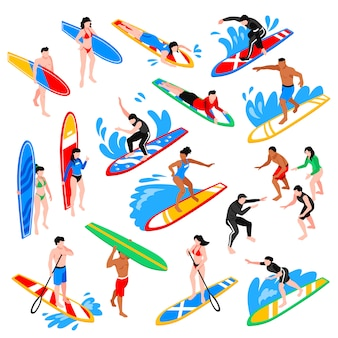 Isometric surf set