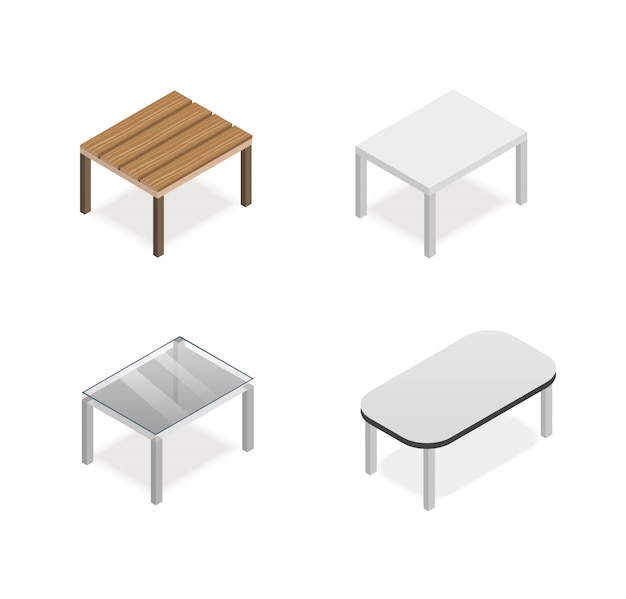 Isometric table vector