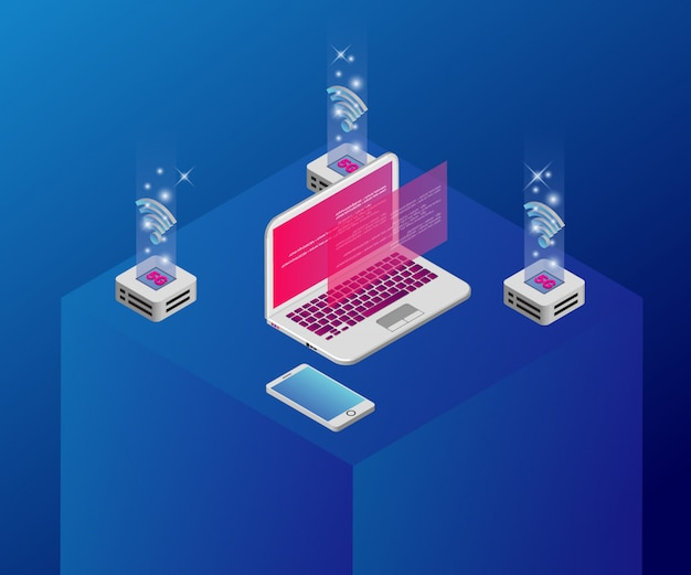 Isometric technology illustration