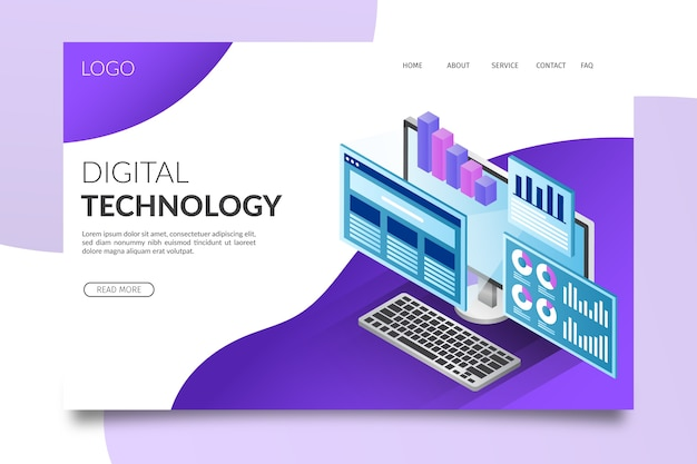 Isometric technology landing page