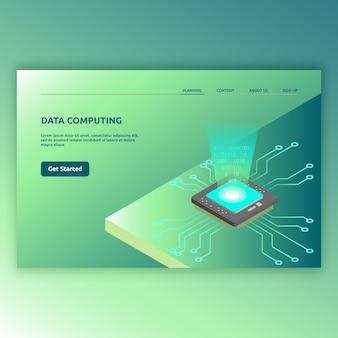 3 d画像でモダンな等尺性技術。デジタル、現代のコンピューター、現代のテクノロジーなどのアイソメ図デザイン。