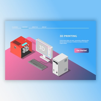 Изометрические технологии современные с трехмерными изображениями. изометрические иллюстрации для цифровых, компьютерных современных, современных технологий и многого другого.