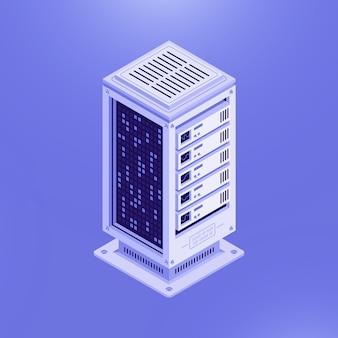 Isometric template of database server
