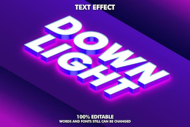 부드러운 빛과 그림자가 있는 등각투영 텍스트 효과 편집 가능한 3d 텍스트 효과