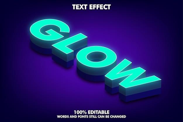 等尺性のテキスト効果編集可能な柔らかな光と影の3dテキスト効果