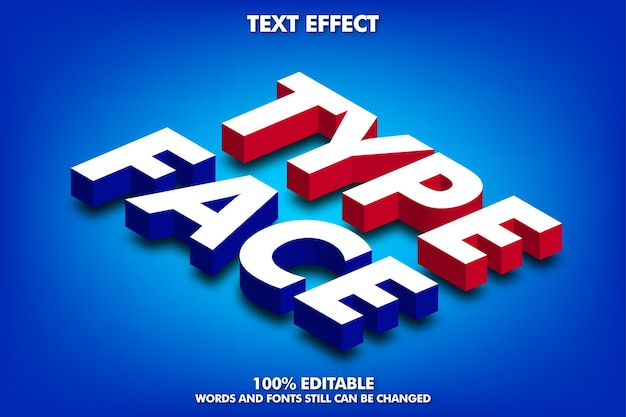 Isometric text effect editable 3d text effect with soft light and shadow