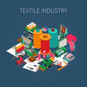 Изометрический текстильный принт