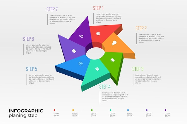 Isometric timeline infographic template