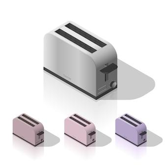 Isometric toaster isolated