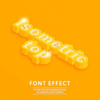 Isometric top 3d font effect