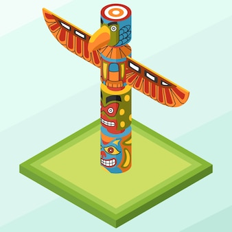 Isometric totem pole