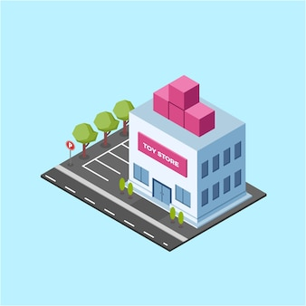 Isometric toy store