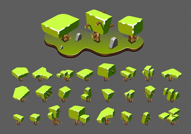 Isometric trees for video games