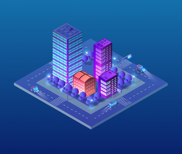 Isometric ultra city concept