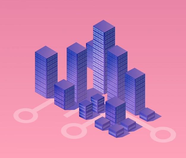 Isometric ultraviolet city