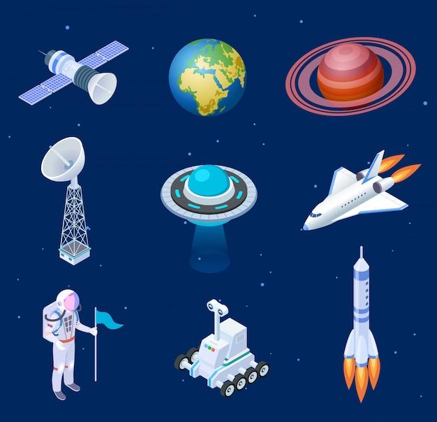 Набор элементов изометрической вселенной