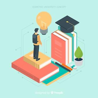 Isometric university background