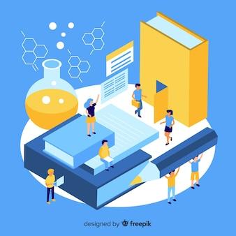 Isometric university concept
