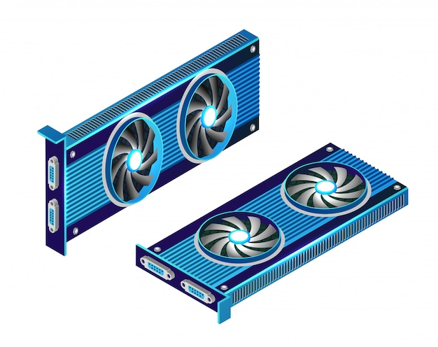 Isometric video graphic card