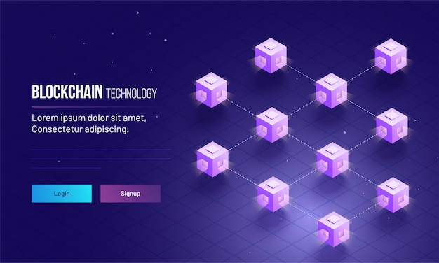 Isometric view of distributed ledger