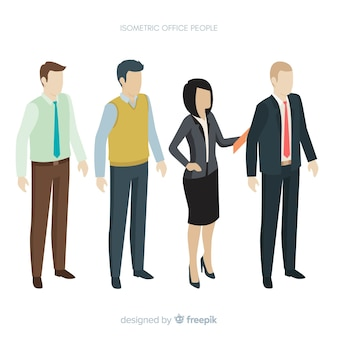 Isometric view of modern business people