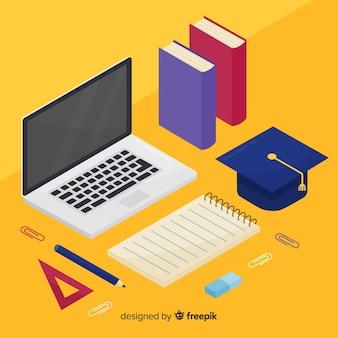 Vista isometrica del concetto di educazione moderna Vettore gratuito