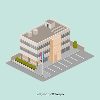 Isometric view of modern office building