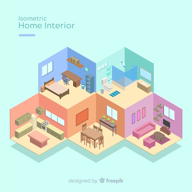 Free Isometric View Of Modern Home Interior Svg Dxf Eps Png Vector Svg File Free Download