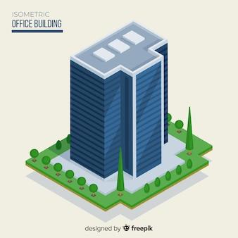 Изометрический вид современного офисного здания