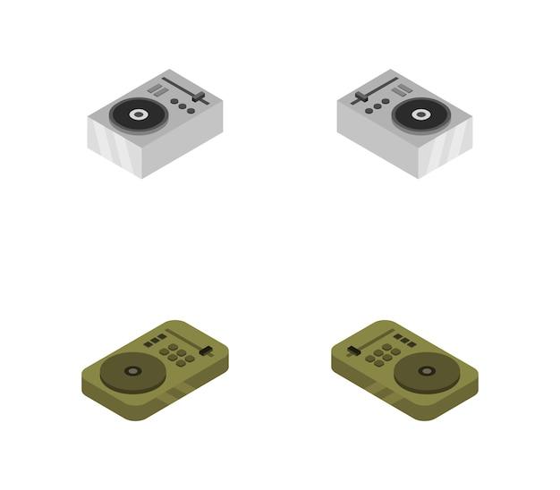 Isometric vinyl player set