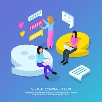 Isometric virtual communication
