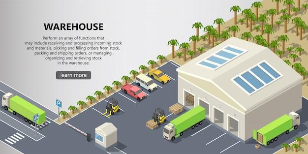 Изометрический склад, служба доставки