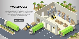 Isometric warehouse, delivery service