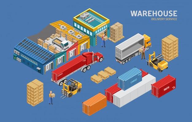 Isometric warehouse and logistics
