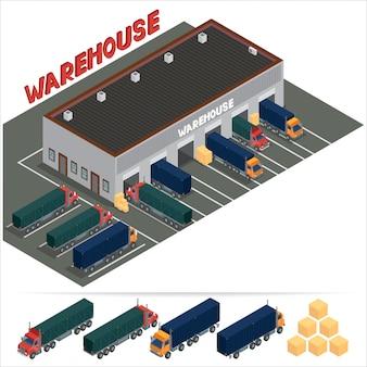Isometric warehouse