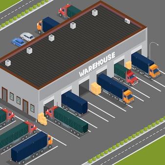 Isometric warehouse.