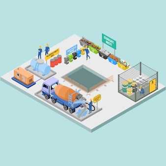 Isometric waste and housekeeping in construction management