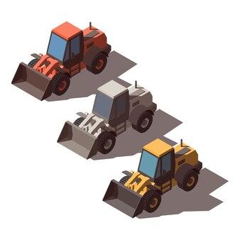 Isometric wheel loader