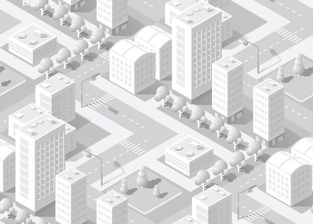 Isometric white city