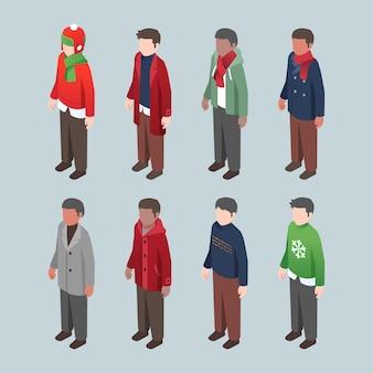 等尺性の冬の人々のコレクション