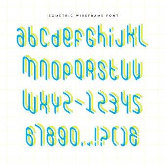 아이소 메트릭 와이어 프레임 글꼴