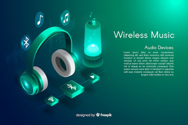 Isometric wireless music background