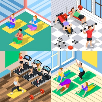 Isometric workout 2x2 concept