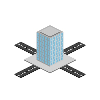 アイソメトリー写真は、巨大な超高層ビル、家、超高層ビル、ホテルを示しています。すべてのオブジェクトはアイソメ図で描画されます。画像。