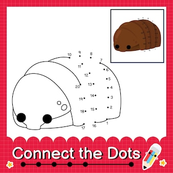 Isopod kids puzzle connect the dots worksheet for children counting numbers 1 to 20