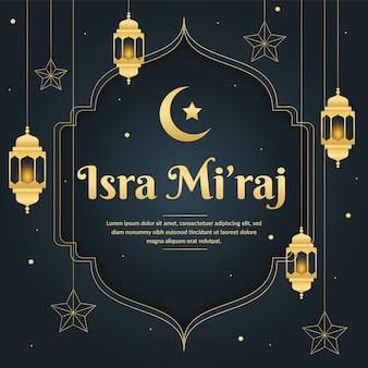 Illustrazione di isra miraj