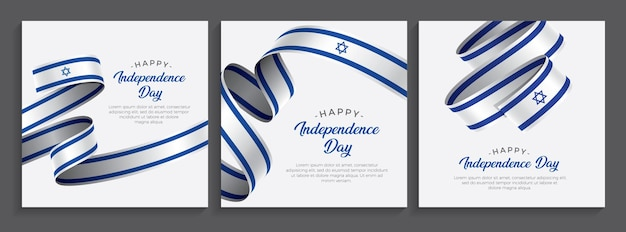 Israel happy independence day flag,   illustration