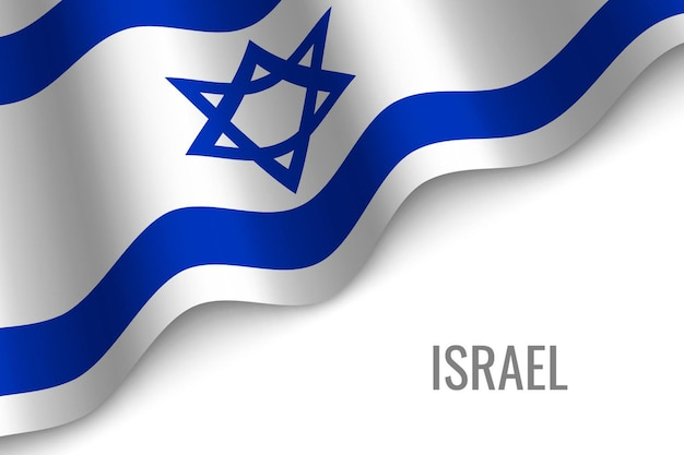 Israel waving flag of israel