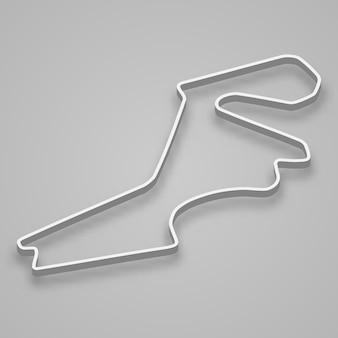 モータースポーツとオートスポーツのためのイスタンブールサーキット。トルコグランプリのレーストラック。